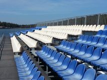 Seats in the tribunes Stock Photo