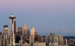 Seattle à l'aube images libres de droits