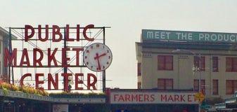 Seattle& x27 σημάδι θέσεων λούτσων του s Στοκ Εικόνα