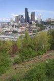 Seattle Skyline Buildings Blue Sky Daytime Stock Images