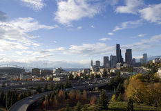 Seattle. City views with downtown Royalty Free Stock Images
