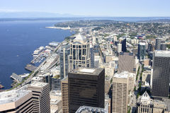 Seattle from above, northwest view. Royalty Free Stock Photo