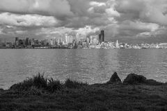Seattle Across Elliott Bay Royalty Free Stock Photography