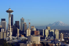 Seattle all'alba fotografia stock