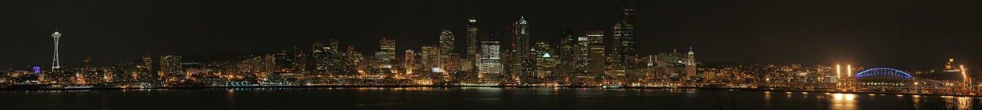 Seattle alla notte Fotografia Stock