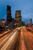 Seattle alla notte Immagine Stock