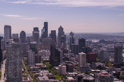 Seattle Area Buildings. View of Seattle Buildings on a sunny day Stock Image