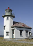 Seattle area lighthouse. Modern lighthouse in Northwestern USA stock photography