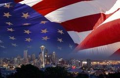 Seattle avståndsvisare - USA Arkivbild
