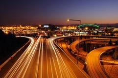 Seattle bij lichte snelheid Stock Afbeeldingen