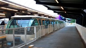 Seattle Blue Monorail train at station Royalty Free Stock Photography