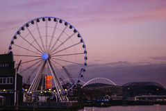 Seattle bord de mer en février 2015 Photos libres de droits