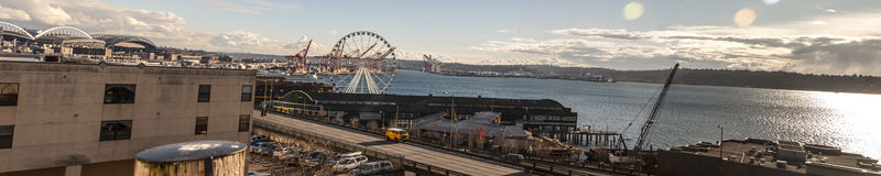 Seattle bord de mer février 2013 Photographie stock