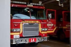 Seattle brandlastbil Arkivfoto