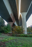 Seattle Bridge 3. A view from beneath the west end of the I-90 bridge in Seattle, Washington Stock Images