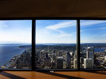 Seattle Buildings City from Observatory Stock Photography