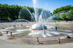 Seattle Center International Fountain Royalty Free Stock Images