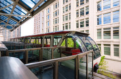 Seattle Center Monorail. Historic Transportation Royalty Free Stock Photography