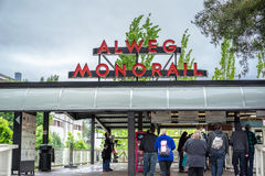 Seattle Center Monorail Station Stock Image