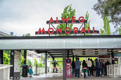 Seattle Center Monorail Station Royalty Free Stock Image