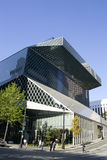 Seattle Central Library. Is a modern building. It has become a famous landmark of Seattle. It attracts a lot tourists also beside readers. Seattle invests more Stock Photography