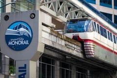 Seattle Centrum Jednoszynowy w Seattle Waszyngton zdjęcia stock