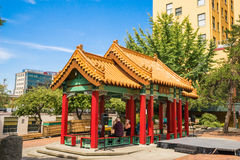 Seattle Chinatown Hing Hay Park Pagoda Royalty Free Stock Photos