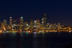 Seattle City Business District. Seattle business district Skyline taken from West Seattle on a clear fall evening Stock Images