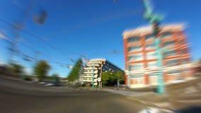 Seattle City Driving Fisheye Zoom Blur stock footage