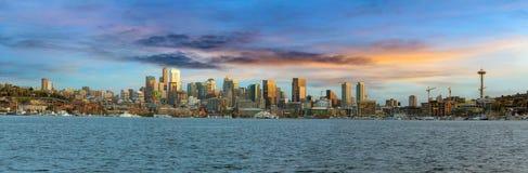 Seattle City Skyline along Lake Union Stock Photography