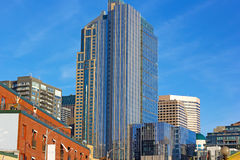 Seattle city skyscrapers on a sunny evening in early spring. Stock Photo