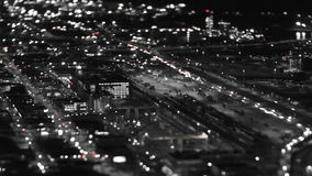 Seattle City Traffic Time Lapse Night Tilt Shift