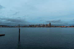 Seattle Cityscape from across Eliott Bay Royalty Free Stock Photo