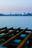 Seattle Cityscape At Dusk Stock Images