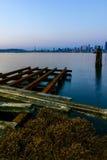 Seattle Cityscape At Dusk Stock Photo