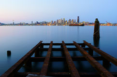 Seattle Cityscape At Dusk Stock Photography
