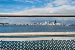 Seattle Cityscape Framed Royalty Free Stock Images