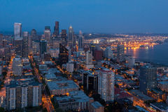 Seattle Cityscape at Night Royalty Free Stock Photography
