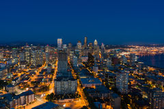 Seattle Cityscape Royalty Free Stock Photos