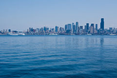 Seattle Cityscape and Transatlantic Royalty Free Stock Image