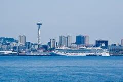 Seattle Cityscape and Transatlantic Royalty Free Stock Photos