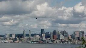 Seattle con el águila imagen de archivo libre de regalías