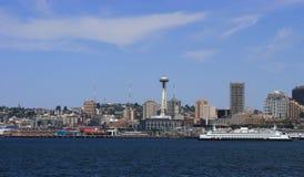 Seattle con il traghetto Immagine Stock Libera da Diritti