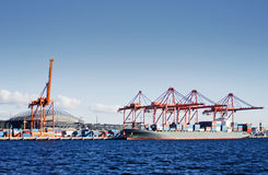 Seattle container terminal Stock Photos