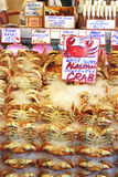 Seattle Crabs. Fresh crab from the Pacfic Northwest at the Seattle Public Market (a/k/a Pike Place Royalty Free Stock Images