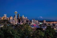 Seattle da baixa Fotos de Stock Royalty Free