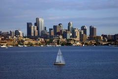 Seattle dall'unione del lago Fotografia Stock Libera da Diritti