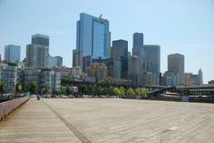 Seattle de la línea de costa Imagen de archivo libre de regalías