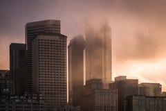 Seattle in de Mist Stock Foto
