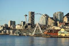 Seattle de stad in stock afbeelding